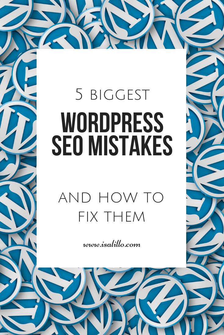 wordpress seo mistakes and how to fix them